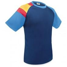 Camiseta técnica marino con bandera España. Modelo 506