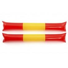 Bastones aplaudidores bandera España