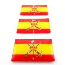 3 Pegatinas bandera España Legión. Modelo 114