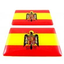 2 Pegatinas bandera España Águila San Juan. Modelo 101