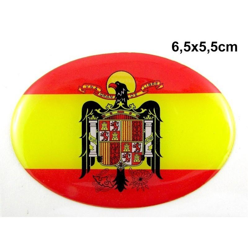 Pegatina Bandera España águila San Juan Modelo 103