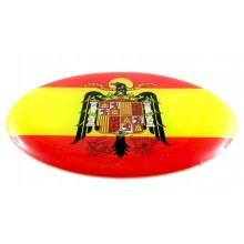 Pegatina bandera España Águila San Juan. Modelo 103