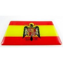Pegatina bandera España Águila San Juan. Modelo 104