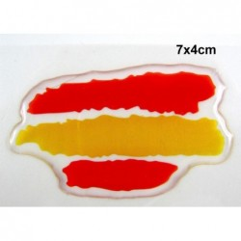 Pegatina relieve trazos bandera España. Modelo 116