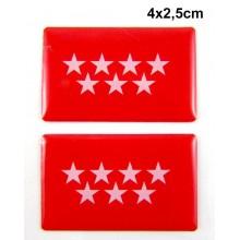 2 Pegatinas Comunidad de Madrid. Modelo 099