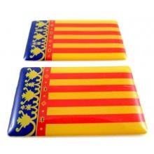 2 Pegatinas Comunidad Valenciana. Modelo 090