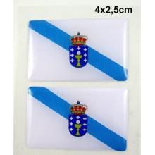 2 Pegatinas bandera Galicia. Modelo 092