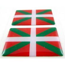 2 Pegatinas bandera Euskadi. Modelo 093