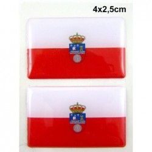 2 Pegatinas bandera Cantabria. Modelo 100