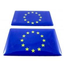 2 Pegatinas bandera Europa. Modelo 098