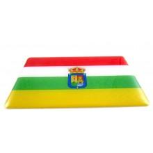 Pegatina bandera La Rioja. Modelo 106