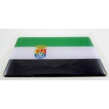Pegatina bandera Extremadura. Modelo 109