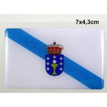 Pegatina bandera Galicia. Modelo 110