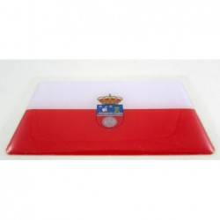Pegatina bandera Cantabria. Modelo 111