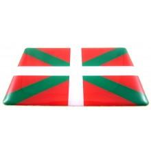 2 Pegatinas bandera Euskadi. Modelo 118