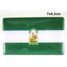 Pegatina bandera Andalucía. Modelo 120
