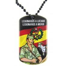 Chapa militar Legión. Modelo 204