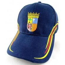 Gorra bandera y escudo Aragón. Modelo 059
