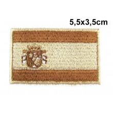 Parche bandera España árido marrón. Modelo 055