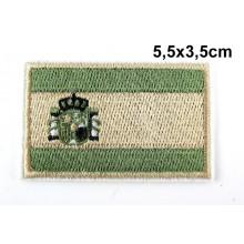 Parche bandera España árido verde. Modelo 056