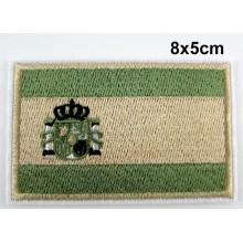 Parche bandera España árido verde. Modelo 076