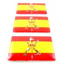 3 Pegatinas bandera España Legión. Modelo 118