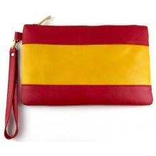 Bolso piel bandera España pequeño. Modelo 525