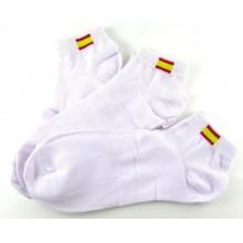 3 Pares calcetines bandera España blancos 40-46. Modelo 007