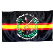 Bandera Legión Española. Negro-España