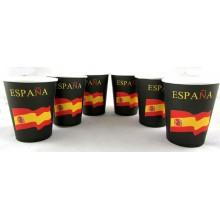 6 Vasos bandera España