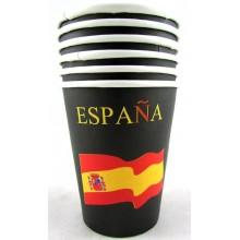 Delantal blanco bandera España. Modelo 29