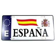 Placa matrícula España