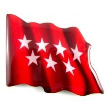 Imán bandera Madrid. Modelo 153
