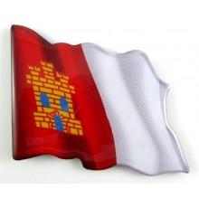 Imán bandera Castilla La Mancha. Modelo 159