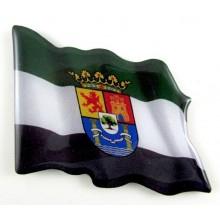 Imán bandera Extremadura. Modelo 160