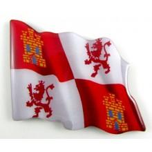 Imán bandera Castilla León. Modelo 163