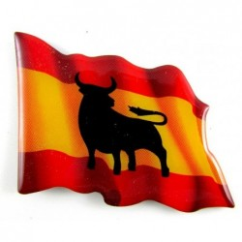 Imán bandera España Toro. Modelo 168