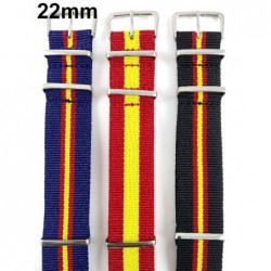 Set 3 correas reloj 22 mm bandera España