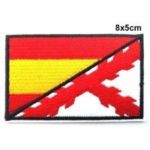 Parche Bandera España Cruz Borgoña. Modelo 088
