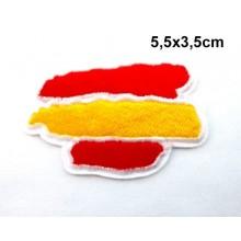 Parche bandera España trazos. Modelo 089