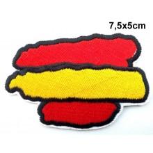 Parche bandera España trazos. Modelo 090
