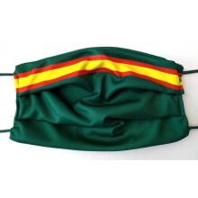 Mascarilla Bandera España verde. Modelo 002