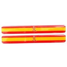 2 Pegatinas relieve bandera España Legión. Modelo 130