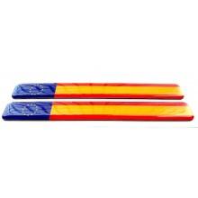 2 Pegatinas relieve bandera España y Europa. Modelo 132
