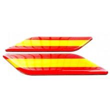 2 Pegatinas relieve bandera España. Modelo 136
