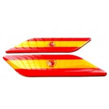 2 Pegatinas relieve bandera España. Modelo 137