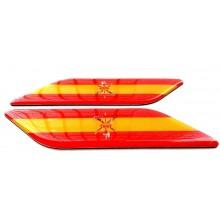 2 Pegatinas relieve bandera España Legión. Modelo 134