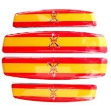 4 Pegatinas relieve España Legión. Modelo 139