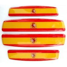 4 Pegatinas relieve bandera España. Modelo 140