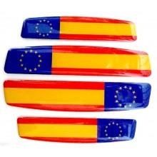 4 Pegatinas relieve España y Europa. Modelo 138